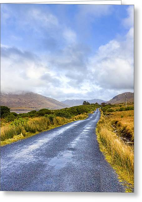Ireland Greeting Cards - Irish Countryside of Connemara Greeting Card by Mark Tisdale