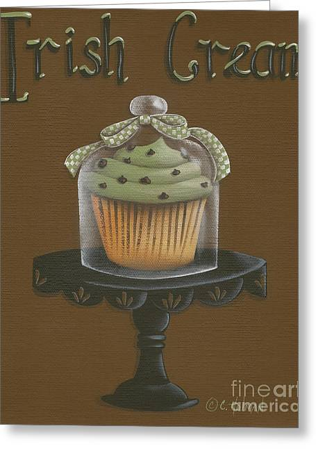 Catherine Holman Greeting Cards - Irish Cream Cupcake Greeting Card by Catherine Holman