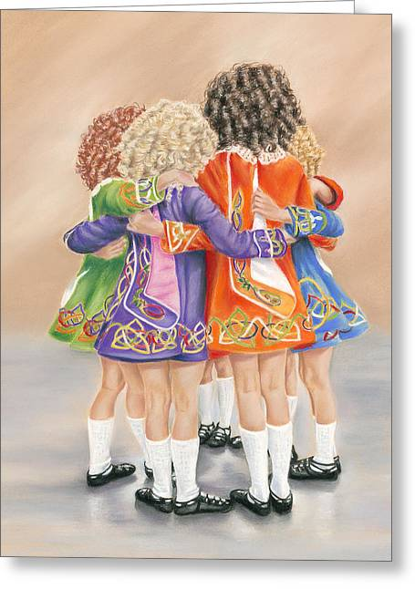 Irish Dancers Greeting Card by Irish Art