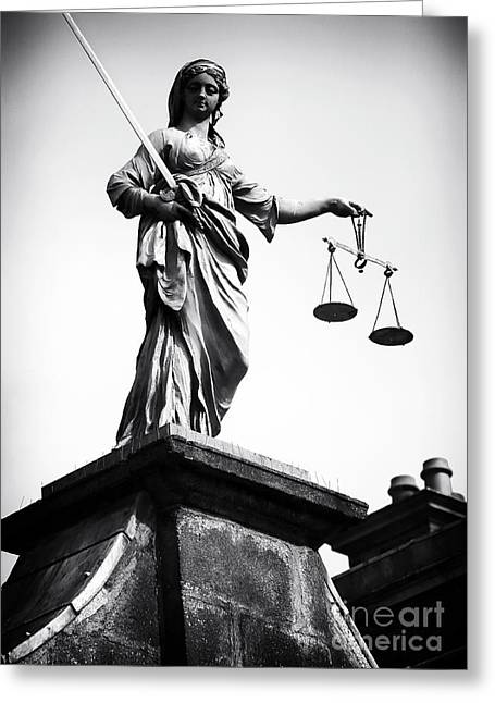 Sculpture For Sale Greeting Cards - Irish Justice Greeting Card by John Rizzuto