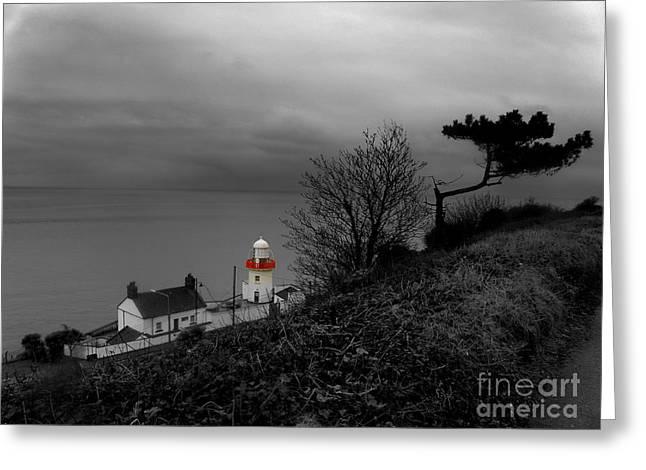 Irish Lighthouse Greeting Card by Frances Hodgkins
