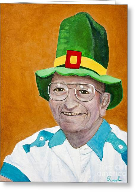 Irish Hat Greeting Cards - Irish Portrait by Pearl Greeting Card by Sheldon Kralstein