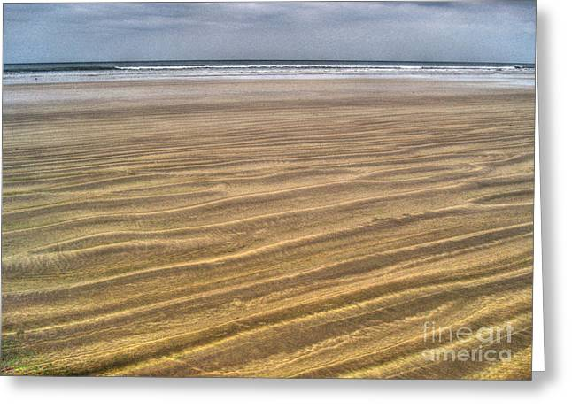 Limited Vision Greeting Cards - Irish Sand Beach Greeting Card by Nina Ficur Feenan