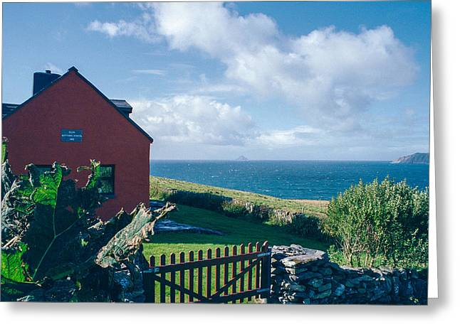 Red School House Photographs Greeting Cards - Irish School House Greeting Card by David Lange
