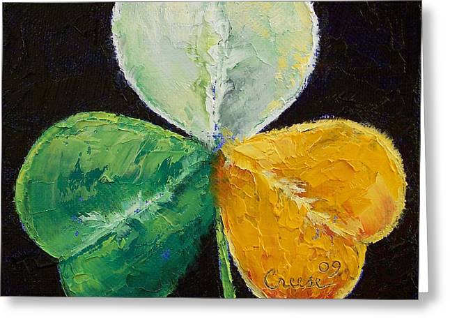Artist Greeting Cards - Irish Shamrock Greeting Card by Michael Creese