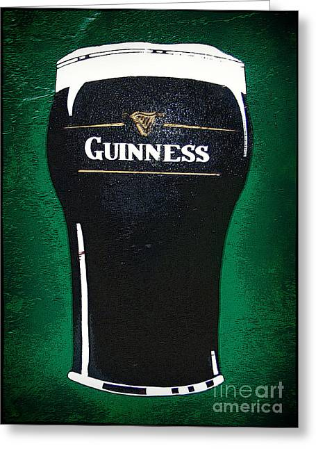 Photography Of Liquor Greeting Cards - Irish Stout Greeting Card by Nina Ficur Feenan