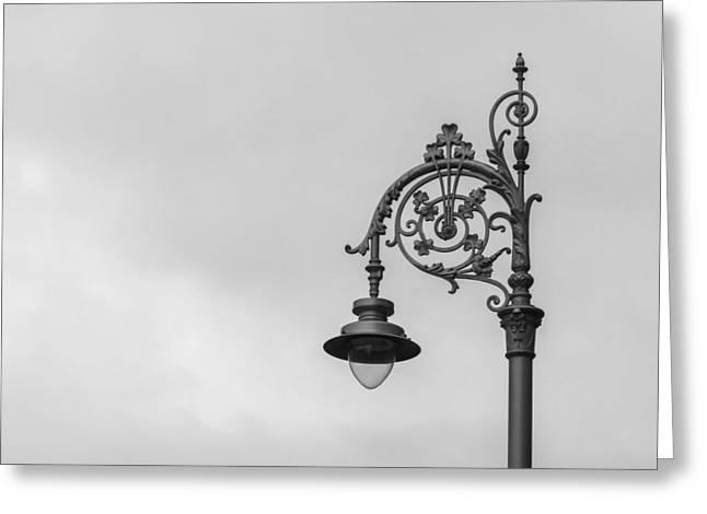 Daysray Photography Greeting Cards - Irish Street Light Greeting Card by Fran Riley