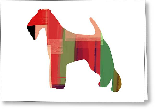 Pet Greeting Cards - Irish Terrier Greeting Card by Naxart Studio