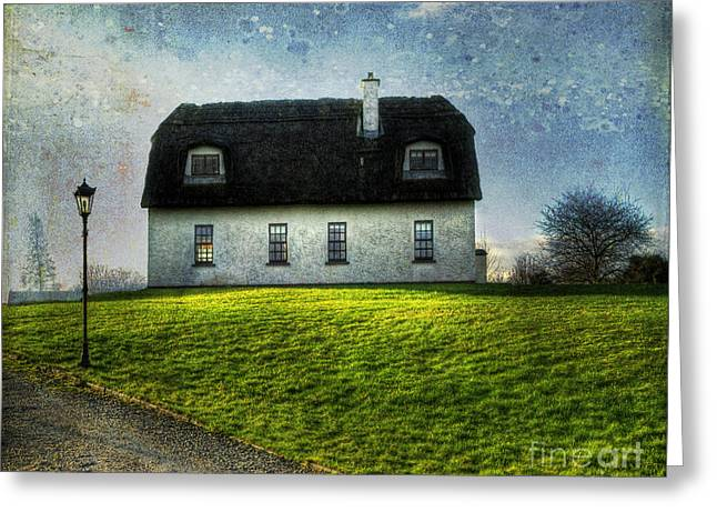 Dwelling Greeting Cards - Irish Thatched Roofed Home Greeting Card by Juli Scalzi