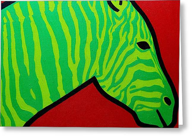 African Greeting Greeting Cards - Irish Zebra Greeting Card by John  Nolan