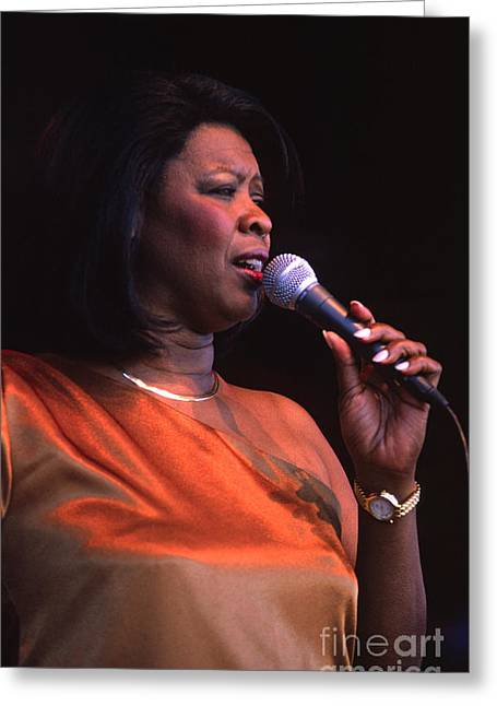 Art Of Soul Music Greeting Cards - Irma Thomas Greeting Card by Craig Lovell
