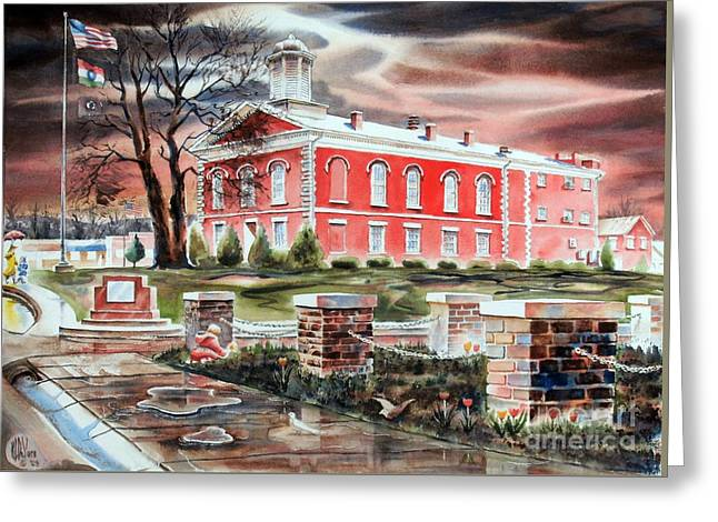Lighting Greeting Cards - Iron County Courthouse No W102 Greeting Card by Kip DeVore