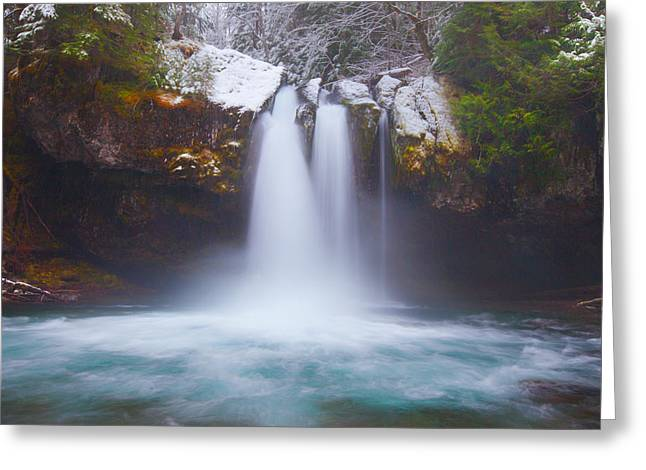 River Scenes Greeting Cards - Iron Creek Freeze Greeting Card by Darren  White