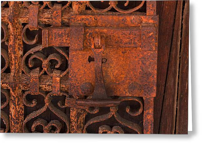 Entryway Greeting Cards - Iron Door Greeting Card by Art Block Collections