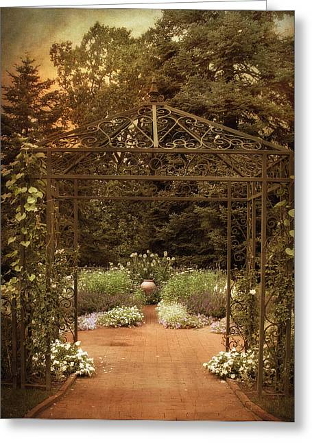 Trellis Digital Greeting Cards - Iron Entrance Greeting Card by Jessica Jenney
