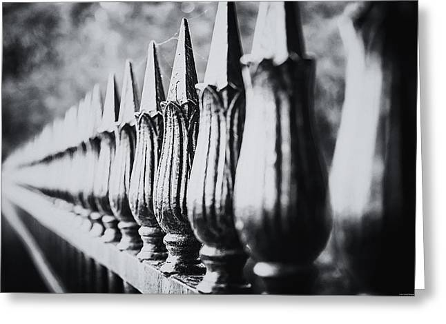 Iron Fence Greeting Card by Ryan Wyckoff