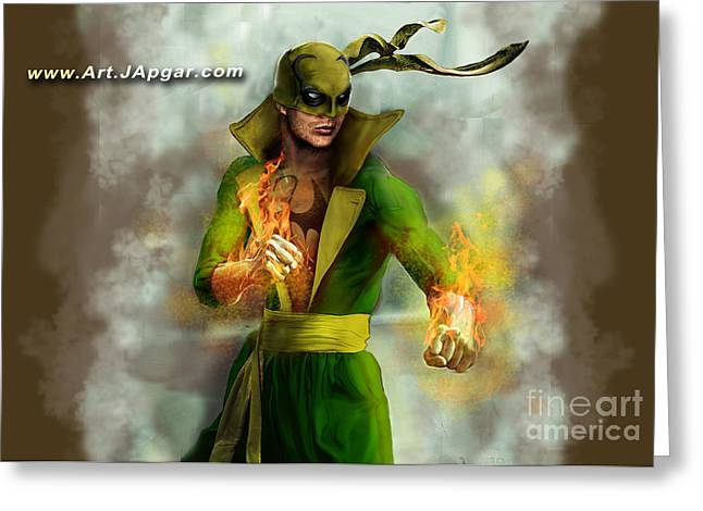 Comicbook Greeting Cards - Iron Fist Greeting Card by Jamie Apgar