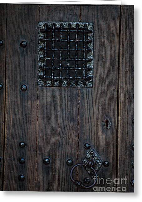 Commercial Photography Greeting Cards - Iron Gate Window Greeting Card by Iris Richardson