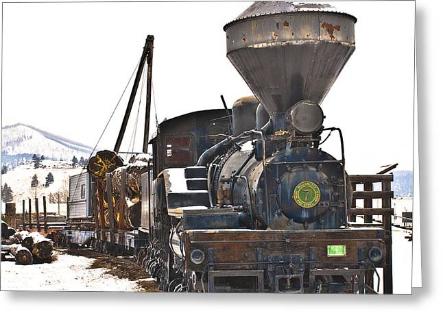 Fort Missoula Greeting Cards - Iron Horse Greeting Card by Dariusz Janczewski