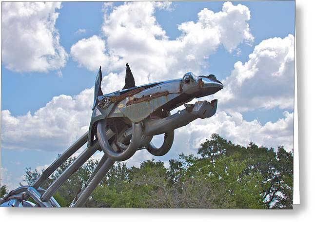 Steel Sculpture Greeting Cards - Iron Horse Greeting Card by Kurt Gustafson