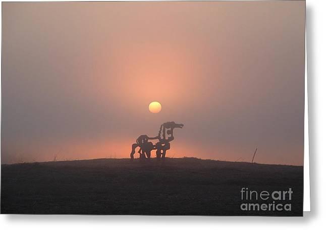 Iron Horse Sunrise 2 Greeting Card by Reid Callaway