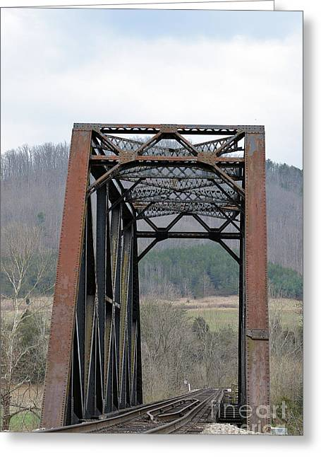 Iron Horse Trestle Greeting Card by Brenda Dorman