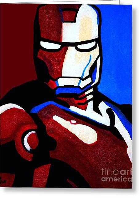 Ironman Paintings Greeting Cards - Iron Man 2 Greeting Card by Barbara McMahon