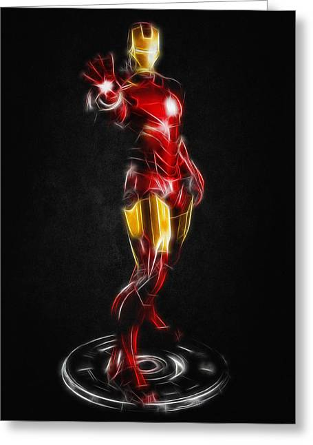 Iron Greeting Cards - Iron Man Greeting Card by - BaluX -