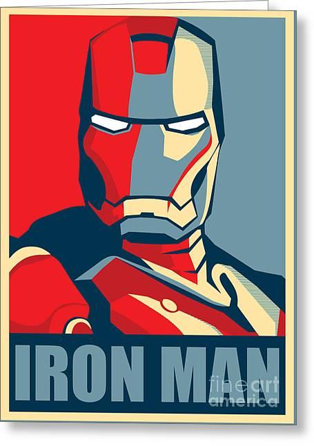 Mask Digital Greeting Cards - Iron Man Greeting Card by Caio Caldas