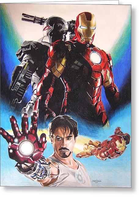 Iron Man Greeting Card by Joseph Christensen