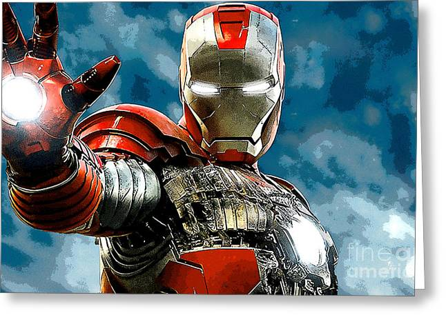Children Greeting Cards - Iron Man Greeting Card by Marvin Blaine