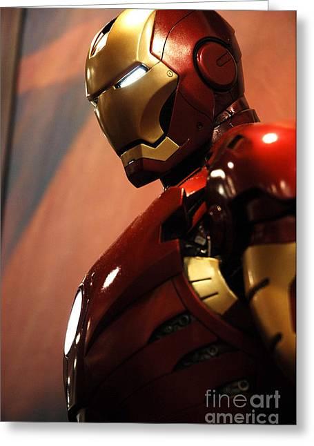Movie Prop Greeting Cards - Iron Man Greeting Card by Micah May