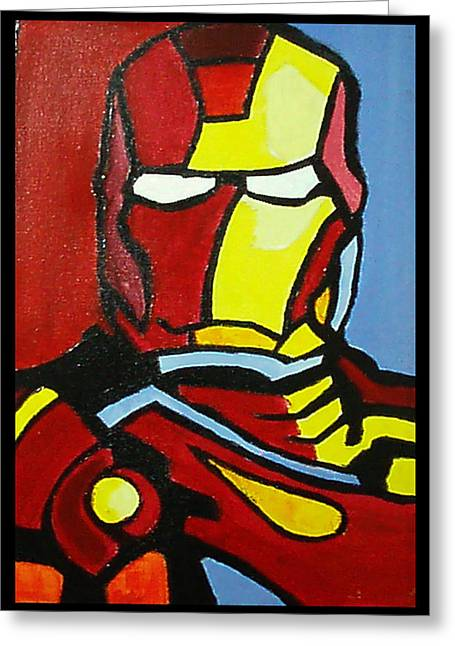 Future Tech Mixed Media Greeting Cards - Iron Man Greeting Card by Ong Chii Huey