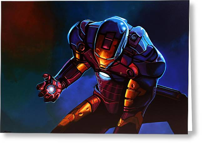Marvel Comics Greeting Cards - Iron Man  Greeting Card by Paul  Meijering