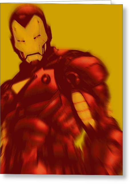 Empower Mixed Media Greeting Cards - Iron Man Pop Crop Gold Greeting Card by Tony Rubino
