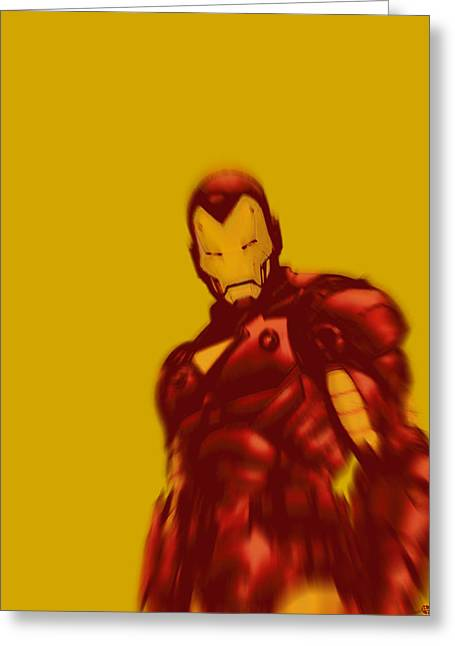 Empower Greeting Cards - Iron Man Pop Gold Greeting Card by Tony Rubino