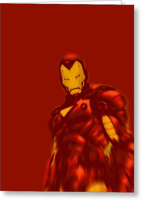 Empower Mixed Media Greeting Cards - Iron Man Pop Red Greeting Card by Tony Rubino