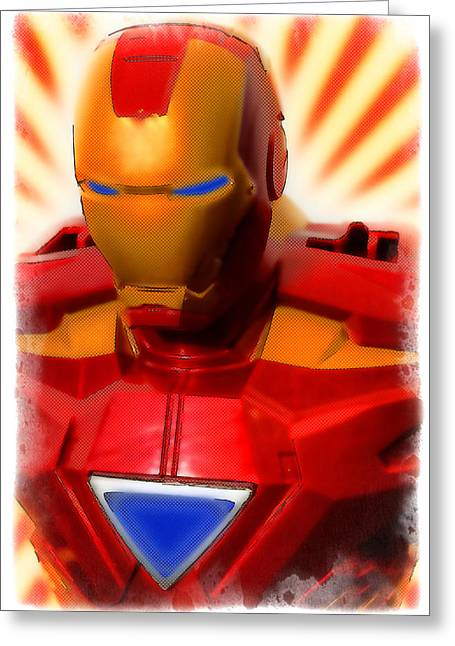 Marvel Comics Photographs Greeting Cards - Iron Man Greeting Card by Ricky Barnard