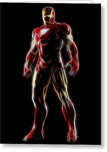 Hero Greeting Cards - Iron Man - Tony Stark Greeting Card by - BaluX -