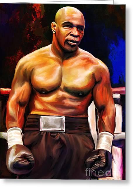Boxer Digital Greeting Cards - Iron Mike. Greeting Card by Andrzej Szczerski