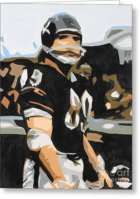 Iron Mike Ditka Greeting Card by Steven Dopka