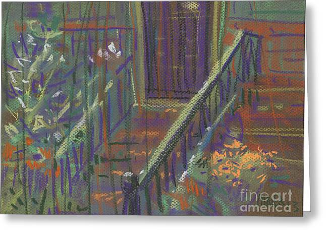 Iron Drawings Greeting Cards - Iron Rail Greeting Card by Donald Maier