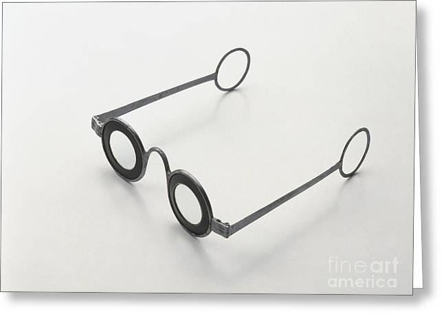 1750s Greeting Cards - Iron Spectacles, C. 1750 Greeting Card by Dave King / Dorling Kindersley / Science Museum, London
