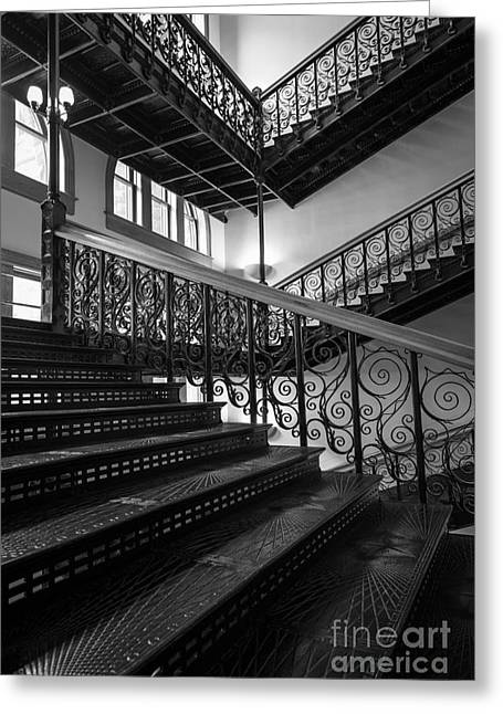 Courthouse Greeting Cards - Iron Staircases Greeting Card by Inge Johnsson