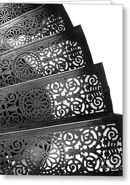 Kate Mckenna Greeting Cards - Iron Stairs Greeting Card by Kate McKenna