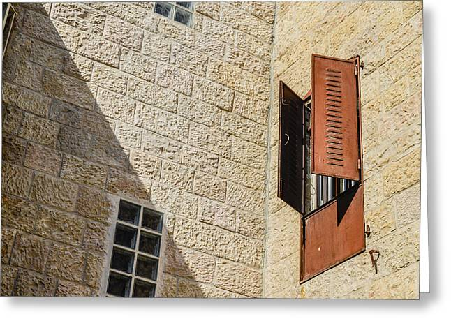 Birthright Greeting Cards - Iron Window Curtains Greeting Card by Alan Marlowe
