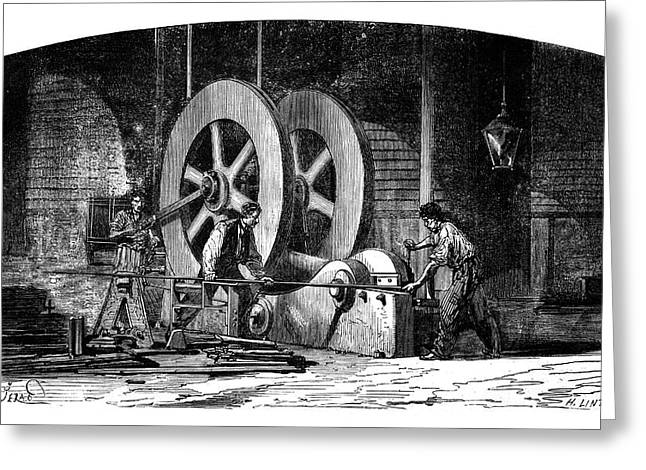 Iron-working Machinery Greeting Card by Science Photo Library