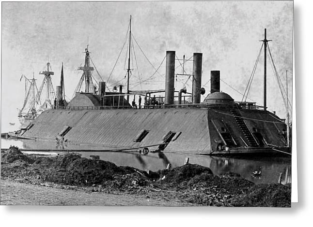 Uss Essex Greeting Cards - Ironclad U S S Essex - Civil War - 1862 Greeting Card by Daniel Hagerman