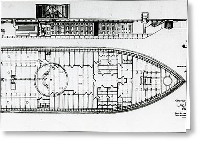 Ironclad Warship Uss Monitor Greeting Card by Us Navy/naval History And Heritage Command