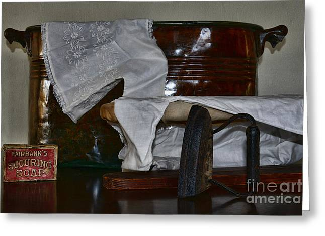Ironing Day Greeting Card by Paul Ward
